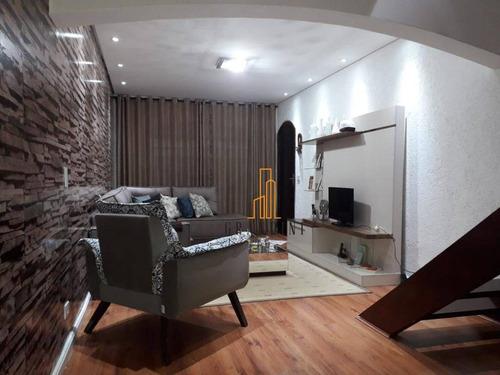 Sobrado Com 3 Dormitórios À Venda, 171 M² Por R$ 550.000,00 - Jardim Las Vegas - Santo André/sp - So0125