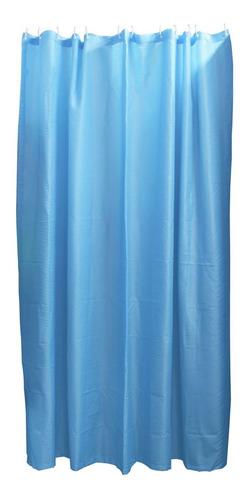 Imagen 1 de 1 de Cortina Baño Poliéster 200x200 Cm Azul