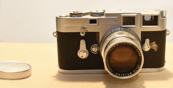 Câmera Leica M3 Lente Summicron 50mm F2 E Fotômetro