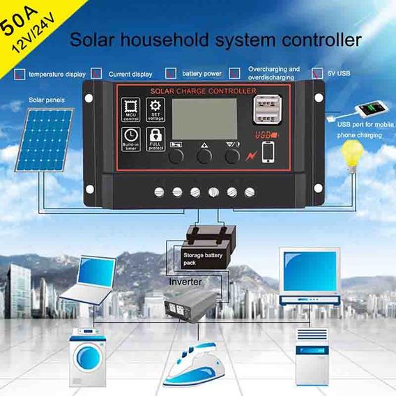Controlador Solar 60a 12v 24v Usb Envio Rápido