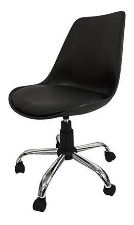Cadeira Pelegrin Em Abs Preta Com Design Eames Dkr Office