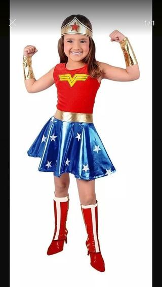 Disfraz Mujer Maravilla Conjunto Niñas Juguetes Muñecas