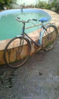 Bicicleta Antiga Quadro Anos 50 Andando P/colecao P/restauro