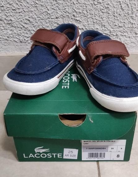 Lacoste Zapatillas Niño Abrojo Azul Keel 316
