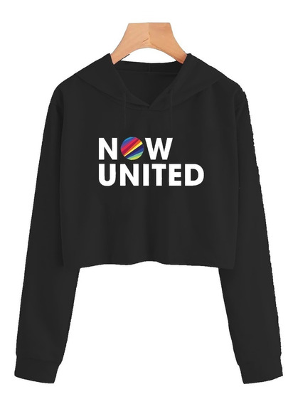 Moletom Cropped Now United Any Gabrielly 02 Music Blusinha
