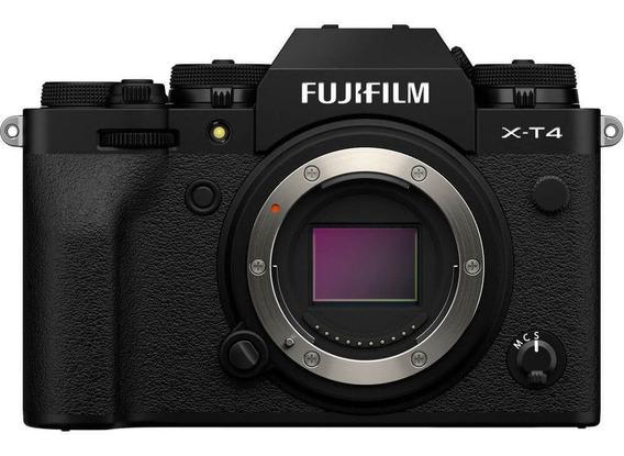 Câmera Mirrorless Fujifilm X-t4 4k, Bluetooth Wi-fi Preta/bk