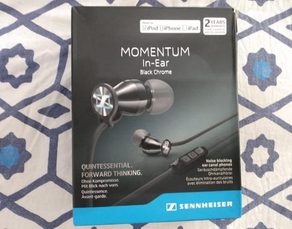 Sennheiser Momentum In Ear - Black Chrome - 100% Original