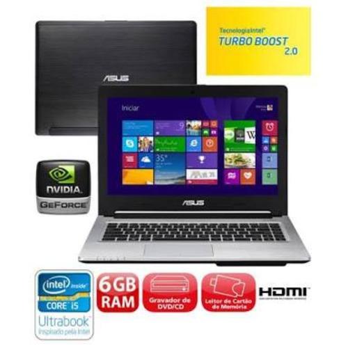 Ultrabook Asus I5-3317u, 6gb, 500gb, 24gb Ssd