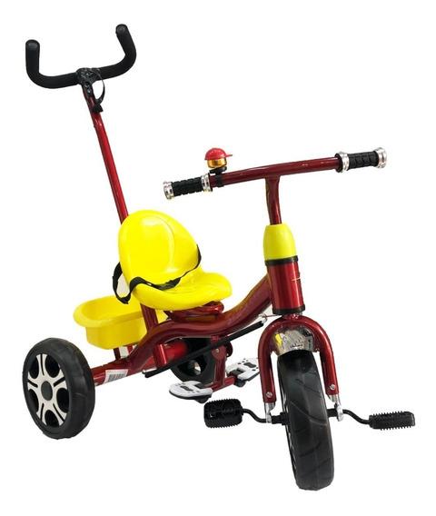 Triciclo Infantil Para Niños Caño Reforzado Direccionable