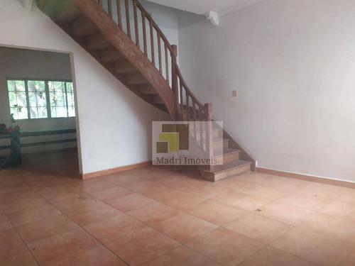 Sobrado Com 3 Dormitórios Para Alugar, 204 M² Por R$ 3.800/mês - Vila Romana - São Paulo/sp - So0164
