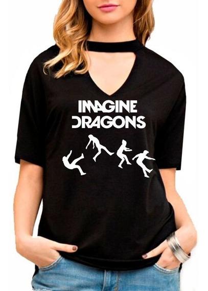 Blusa Feminina Choker Imagine Dragons