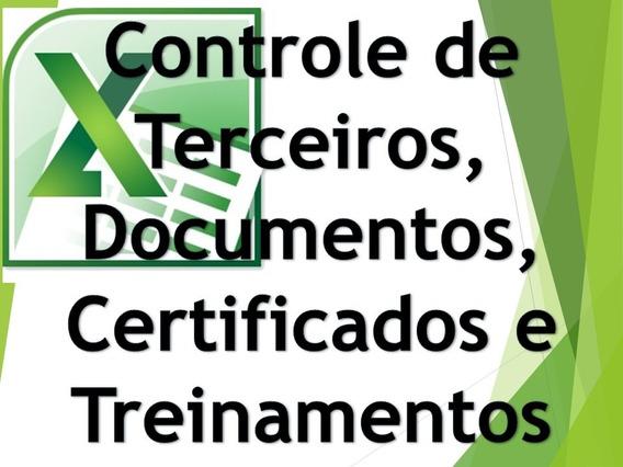 Controle De Terceiros Documentos Treinamentos E Certificados