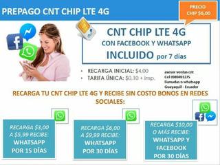 Chip Cnt 1,4 Claro 1,80 Movistar 1,80 Tuenti 2,30 Jo