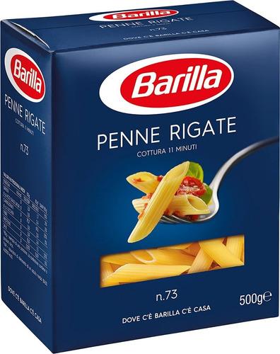 Imagen 1 de 1 de Fideos Italianos Pasta Barilla Penne Rigate 500g E. Gra Caba