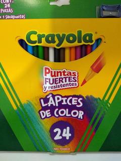 Lápices De Color Crayola® 24 Piezas + Sacapuntas De Regalo