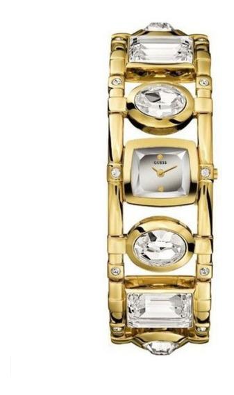 Reloj Pulsera Para Dama Montre Guess Crystal Gold-tone