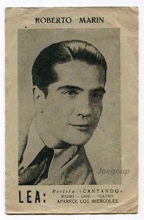 Foto Tarjeta Revista Cantando Artista Tango Roberto Marin