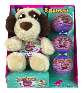 Perro De Peluche 23 Cm Con 3 Cachorros Tienda Fun Now!