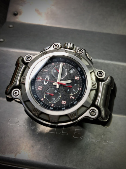 Reloj Oakley Crankcase, Cronógrafo, Bisel Giratorio, Fecha