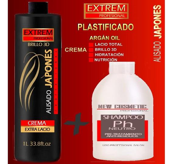 Alisado Definitivo Japonés Extra Fuerte + Shampoo Neutro