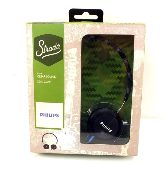 Fone De Ouvido Stereo Philips Over-ear Strada P2 Shl5100 Clear Sound Son Clair A10251