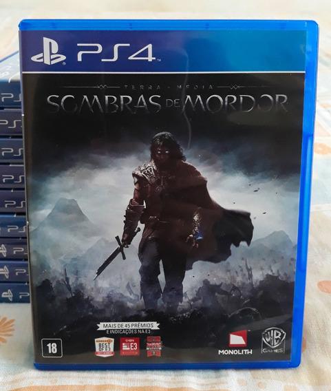 Sombras De Mordor Ps4 - Jogo Mídia Física Em Português