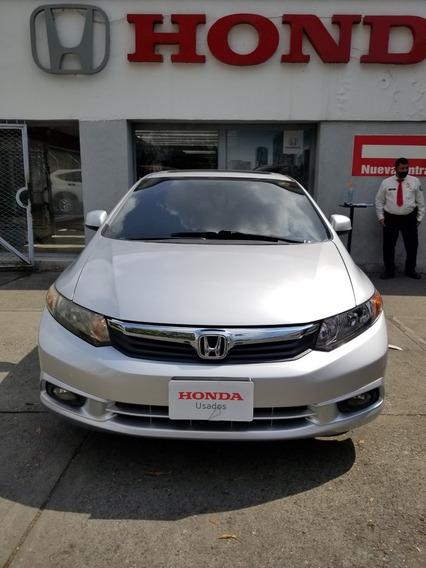 Honda Civic Ex Motor 1.8 M Automático 2.012 Plata Alabaster