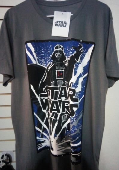 Playera Máscara De Látex Star Wars Darth Vader Nueva Talla L