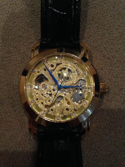 Relógio Importado Automático. Dourado - Luxo