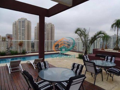 Studio Com 1 Dormitório Para Alugar, 38 M² Por R$ 2.433,00/mês - Vila Augusta - Guarulhos/sp - St0059