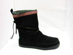 Botas Toms Nepal Boot Black Suede Trim Negro No. 10000443
