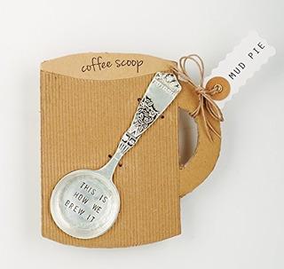 Mud Pie 4641002b Brew It Coffee Scoop, 0.3815 X 19 8, Silve