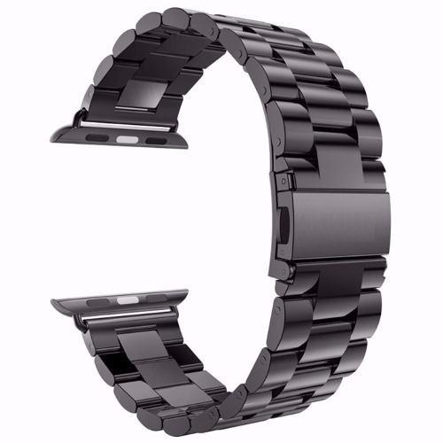 Pulseira Em Aço Inox Na Cor Preto Relógio Aple Watch 42mm