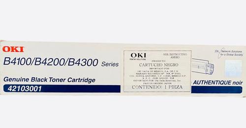 Imagen 1 de 1 de Toner Oki 42103001  B4100 / B4200 / B4300 Negro