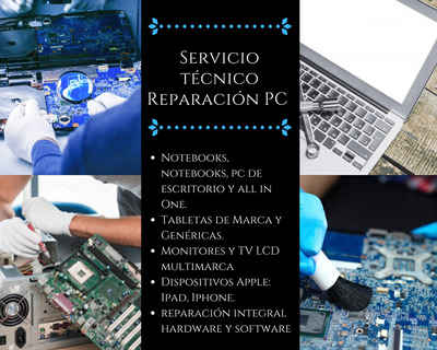 Servicio Técnico Reparación Pc-notebook-pc Escritorio