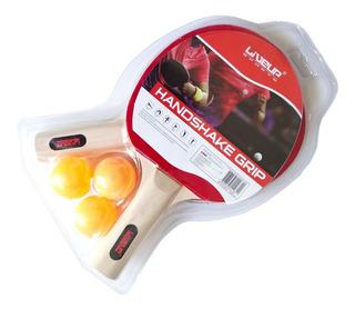 Kit Tênis De Mesa Ping Pong - 2 Raquetes & 3 Bolinhas