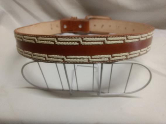 Cinturón Vaquero Bordado En Hilo -el Güero-
