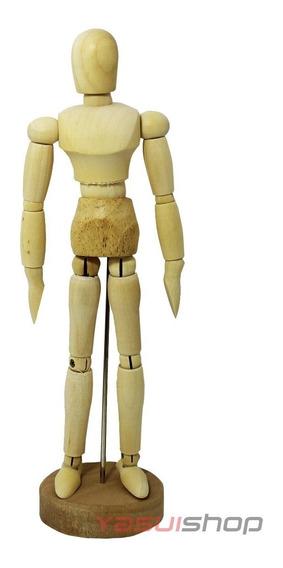 Boneco Escultura Estatua De Madeira Articulado Arte Desenho