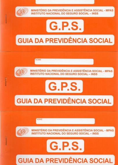 Carnê Gps - Guia Previdência Social - Kit Com 3 Carnês