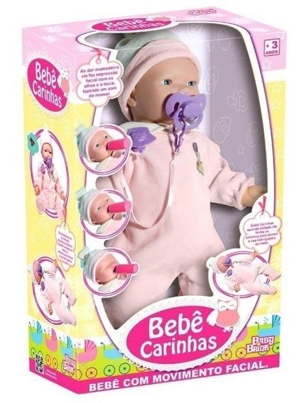 Boneca Bebê Carinhas Movimenta O Rosto Respira Fecha O Olho