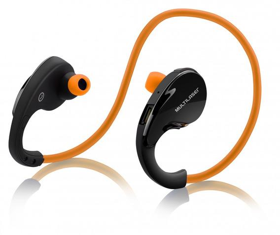 Fone De Ouvido Arco Sport Bluetooth Laranja Multilaser