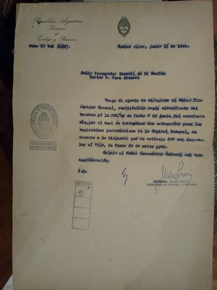 Documento Original De Juan Domingo Perón