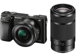 Camara Sony Alpha A6000 Mirrorless C/ 16-50mm 55-210mm Zoom
