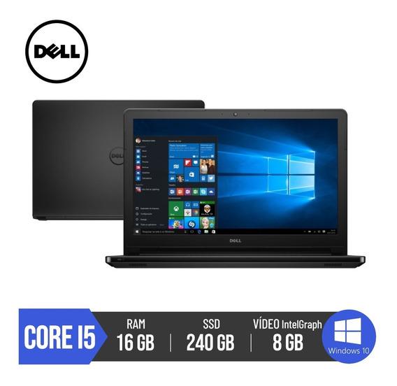 Notebook Dell Core I5 16gb Ram Ssd 240gb Tela 15,6 Inspiron
