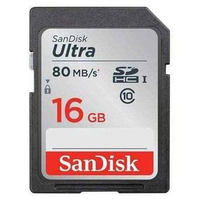 Cartão Memória Sandisk 16gb Ultra Uhs-i Sdhc Class 10 80mb/s