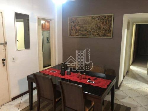 Apartamento Com 3 Dormitórios À Venda, 120 M² Por R$ 800.000,00 - Icaraí - Niterói/rj - Ap3679