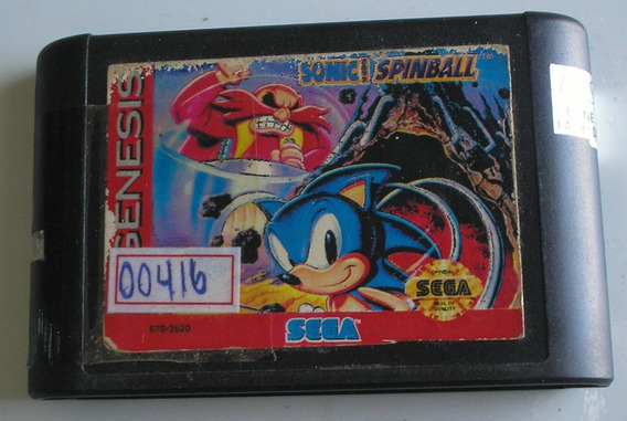 Sonic Spinball Mega Drive Paralela Usada Funcionando