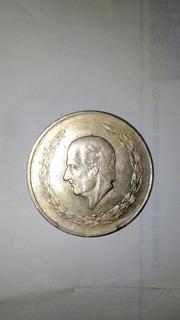 Moneda Antigua Hidalgo 5 Pesos Plata Ley .720 Año 1952