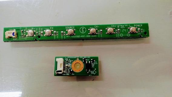 Placa Sensor Controle Remoto E Teclado 32pfl3707d/78