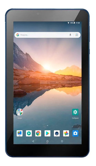 Tablet Multilaser Android Wifi Tela 7 Pol Quadcore 16gb Azul
